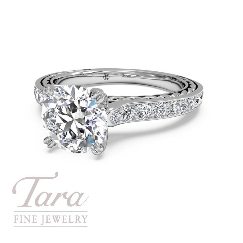 Ritani Diamond Engagement Ring in 18K  .25TDW (Center Stone Sold Separately)