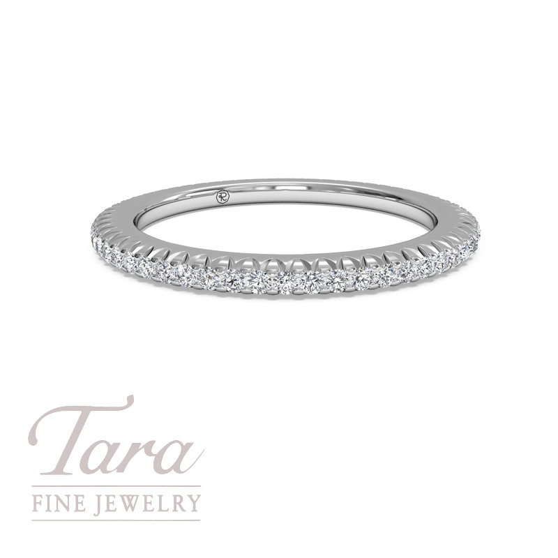 Ritani Diamond Eternity Band 18K White Gold .34TDW