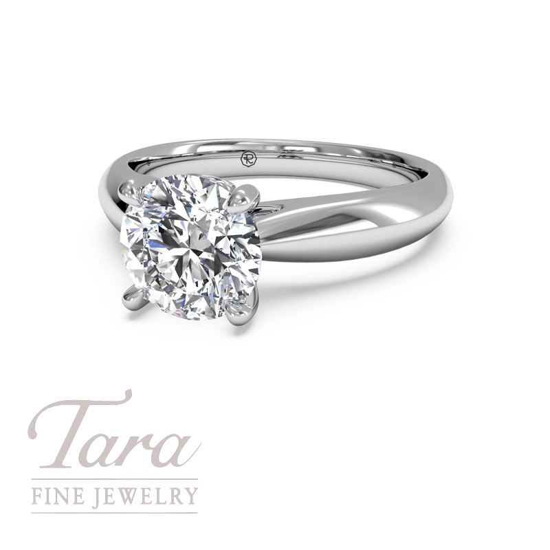 Ritani Diamond Solitaire Engagement Ring in 18K White Gold .04TDW (Center Stone Sold Separately)