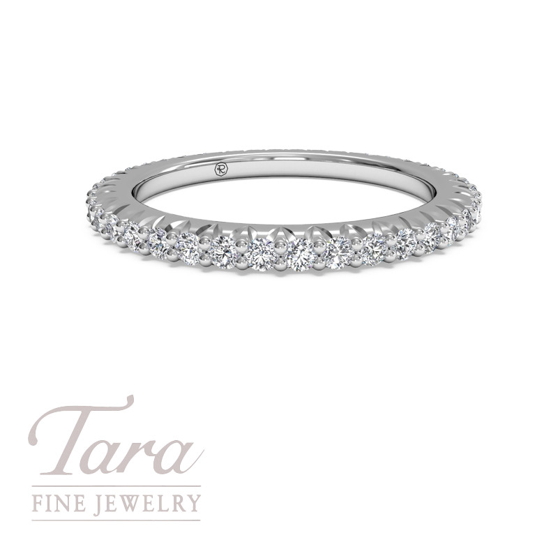 Ritani Diamond Wedding Band in 18K White Gold .62TDW
