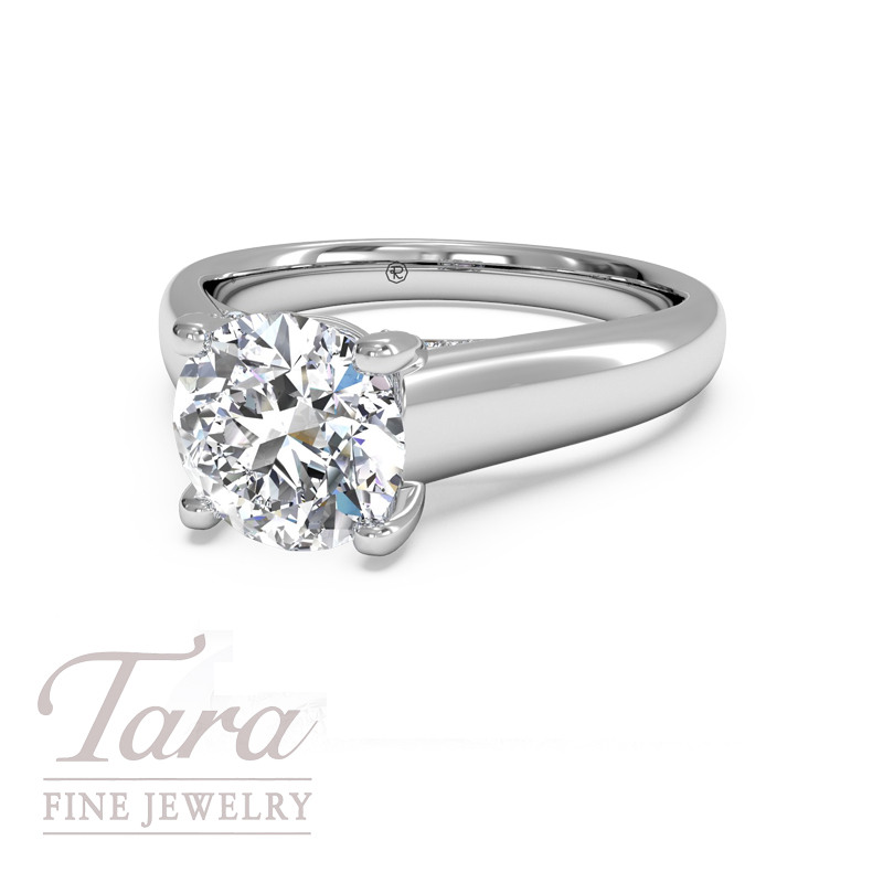 Ritani Modern Diamond Engagement Ring in 18K White Gold .12TDW (Center Stone Sold Separately)