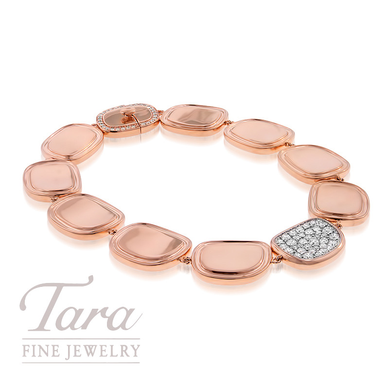 Roberto Coin 18K Rose Gold and Diamond Bracelet .84TDW