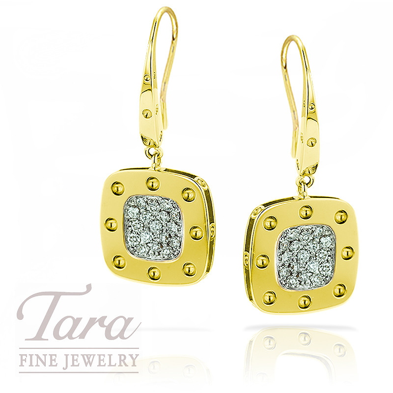 Roberto Coin Earrings, 18K Yellow Gold .51TDW