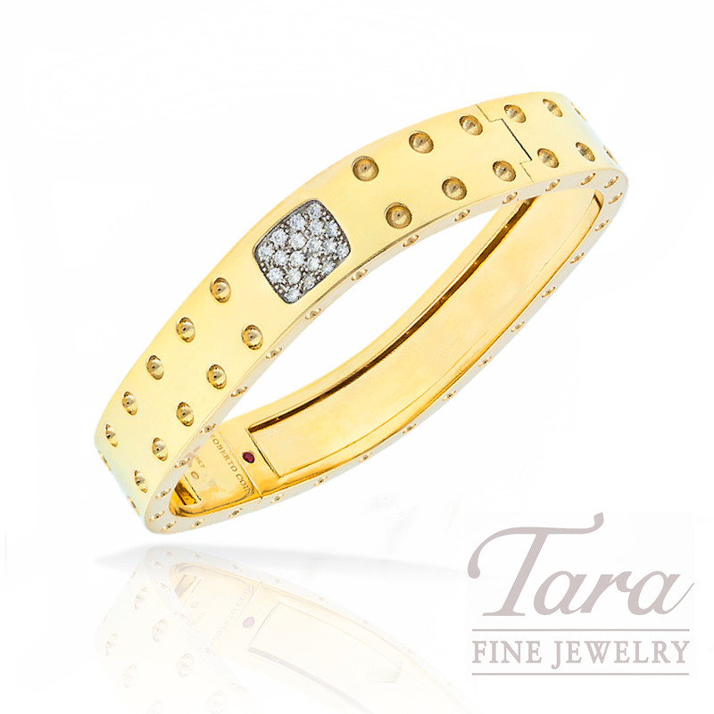 """Roberto Coin Bracelet in 18k Yellow Gold with Diamonds, .28tdw """"Pois Moi Collection"""""""