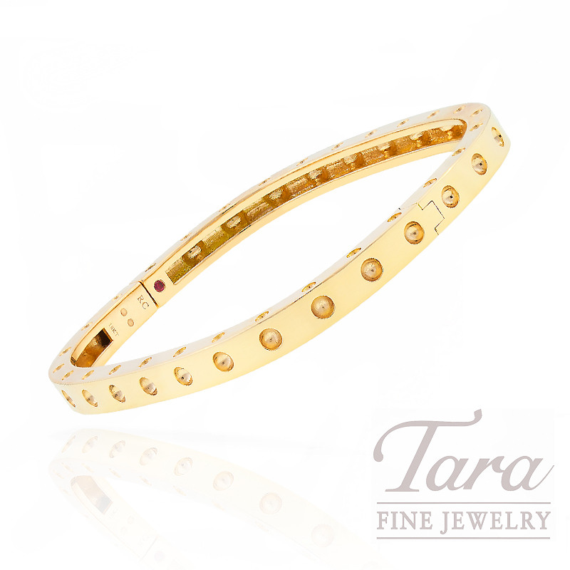 Roberto Coin 18k Yellow Gold Pois Moi Diamond Bangle Bracelet Collection