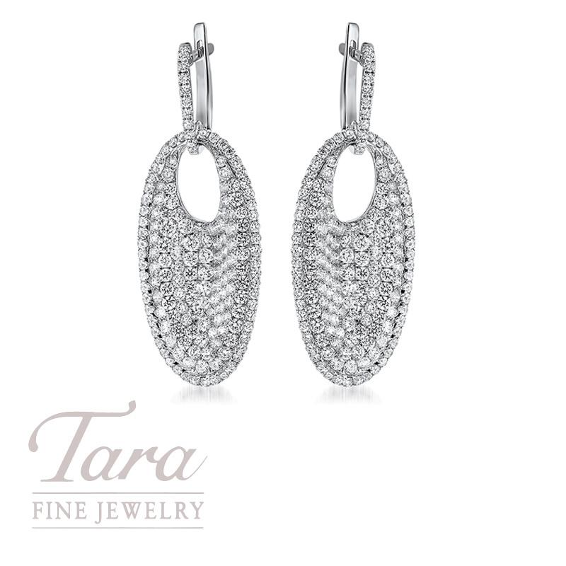 Roberto Coin Diamond Earrings in 18K White Gold 4.40TDW