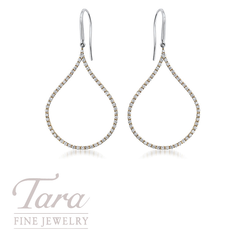 Roberto Coin Diamond Earrings in 18K Yellow Gold 1.06TDW
