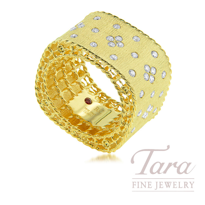 18K Yellow Gold Princess Diamond Ring, .59TDW