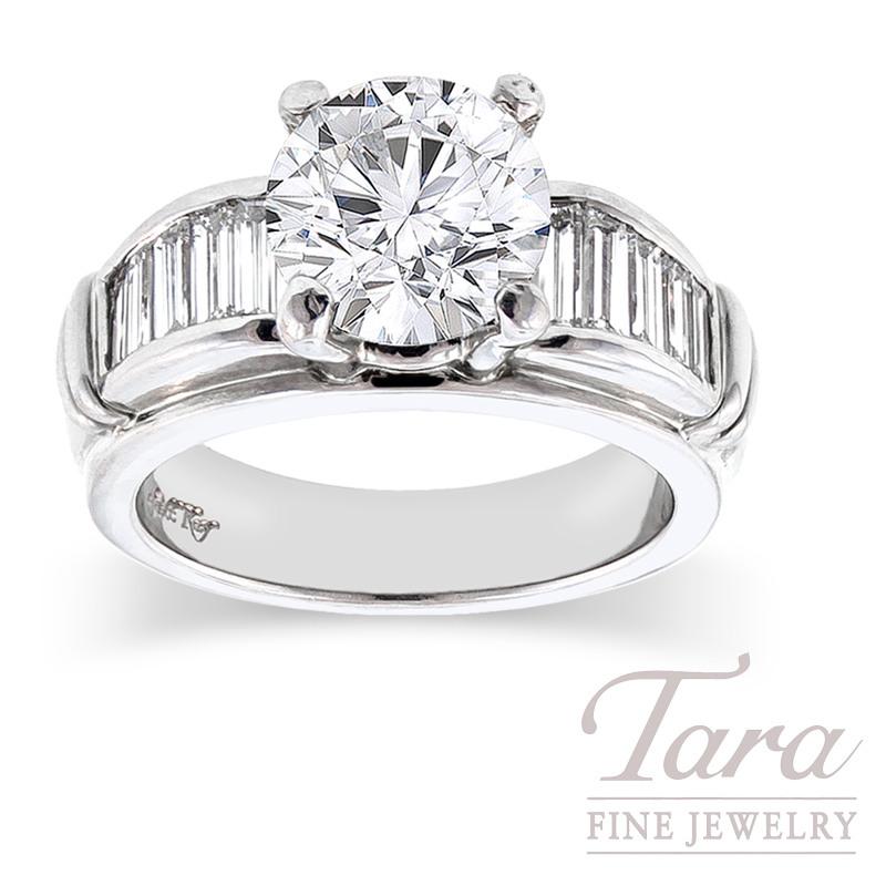Diamond Wedding Ring by Scott Kay in Platinum, .85TDW (Center stone sold separately)