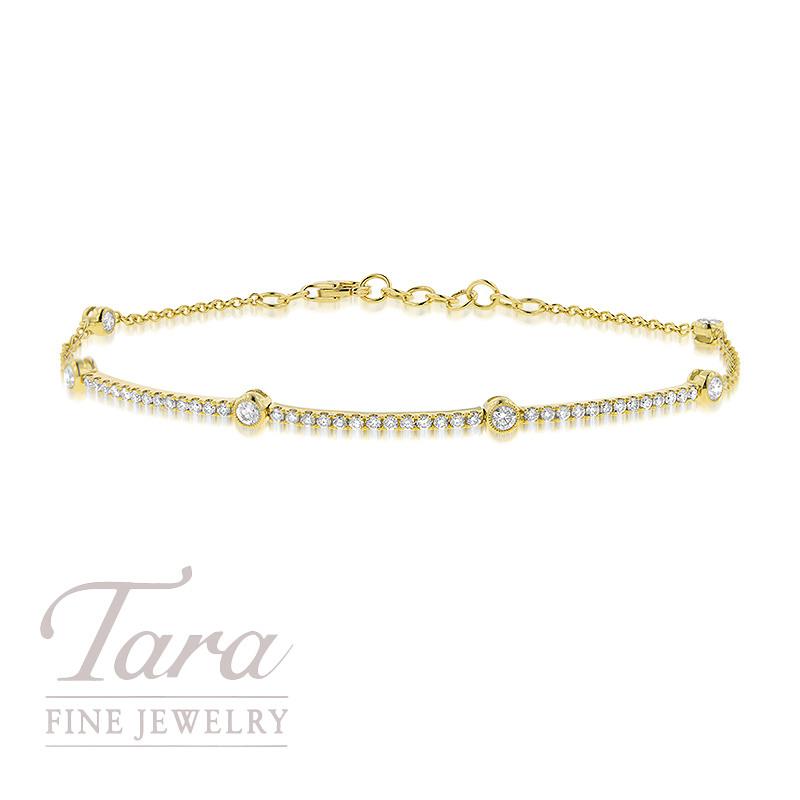 Simon G 18K Yellow Gold Diamond Bracelet .60TDW