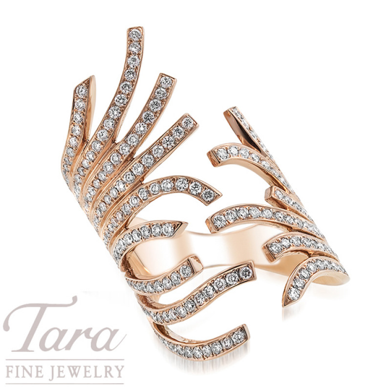 Simon G Fancy Diamond Ring in 18K Rose Gold