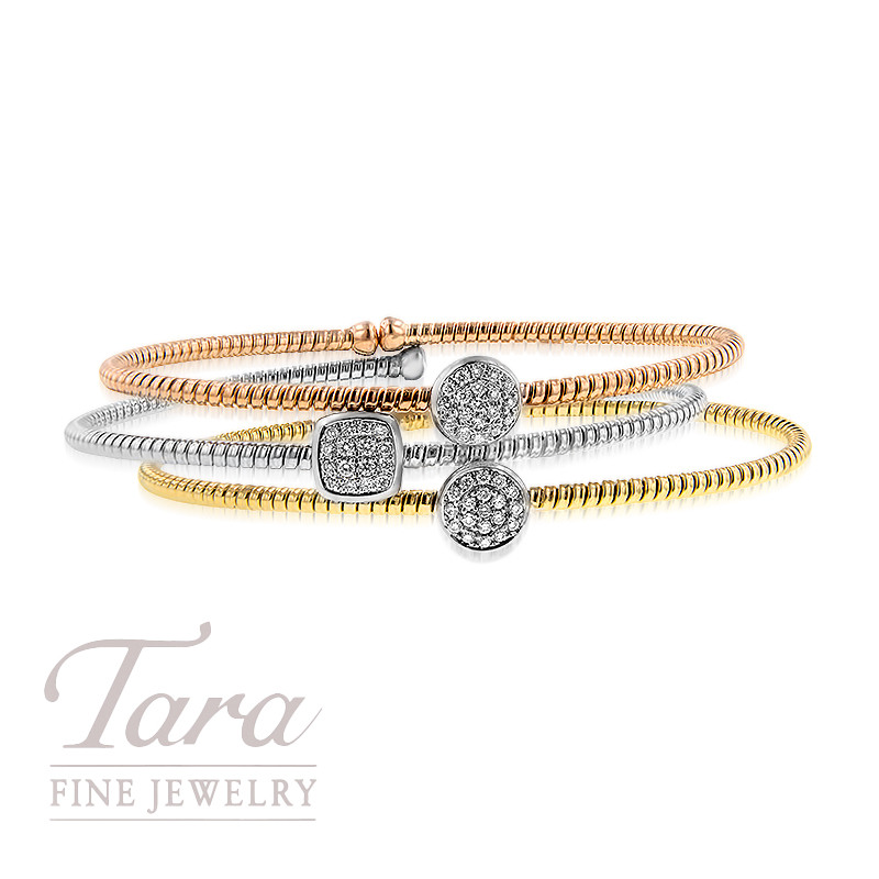 Simon G Stackable Bracelets in 18K Rose, White and Yellow Gold .15TDW Each