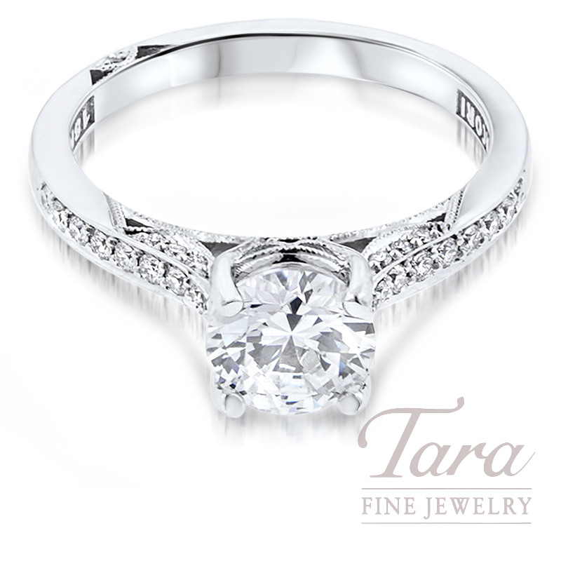 Tacori Diamond Engagement Ring in 18K White Gold .20TDW (Center Stone Sold Separately)