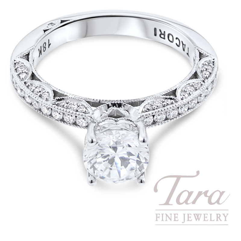 Tacori Diamond Engagement Ring 18K White Gold .41TDW (Center Stone Sold Separately)