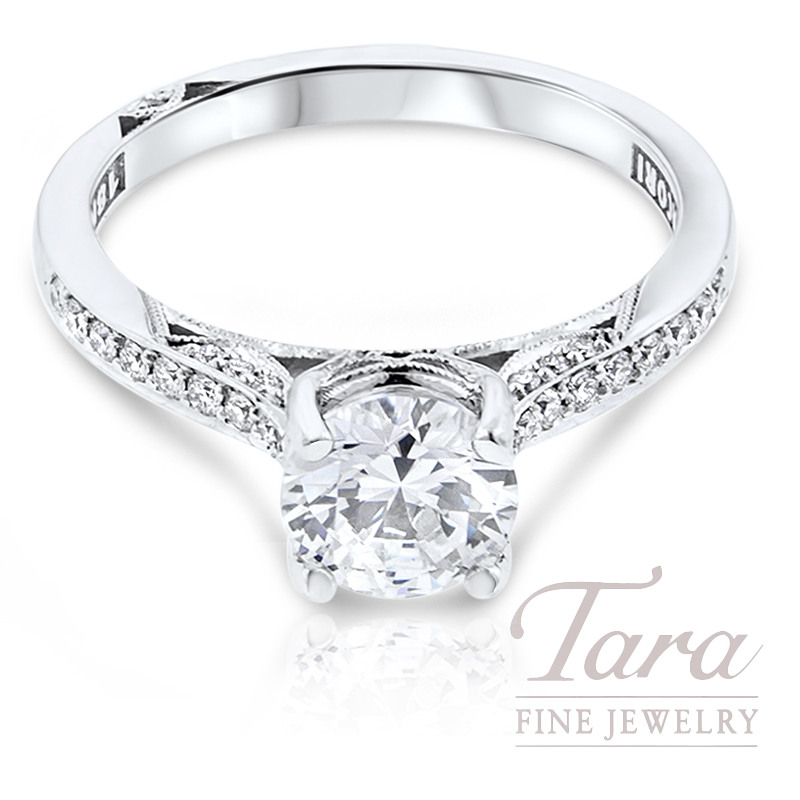 Tacori Diamond Engagement Ring 18k White Gold .20TDW (Center Stone Sold Separately)