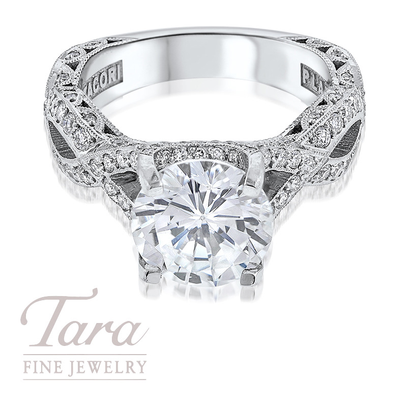 Tacori Diamond Engagement Ring Platinum .87TDW (Center Stone Sold Separately)