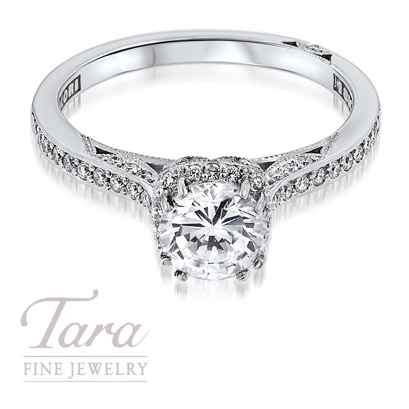 Tacori Diamond Engagement Ring in 18K White Gold or Platinum (Center Stone Sold Separately)