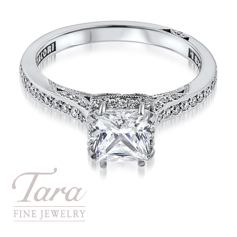 Tacori Diamond Engagement Ring in 18K White Gold .25TDW (Center Stone Sold Separately)