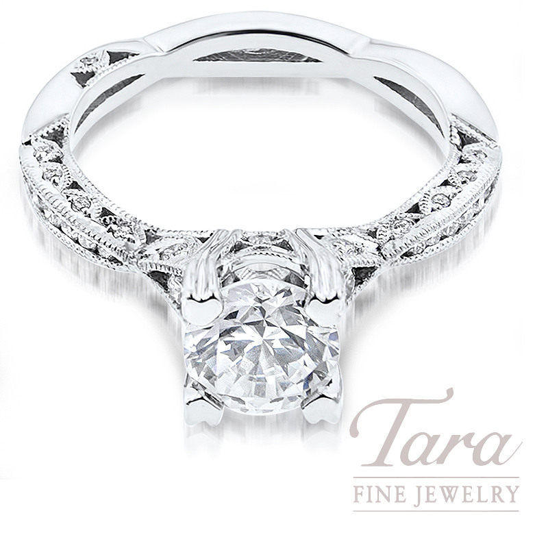 Tacori Diamond Engagement Ring in 18K White Gold .28TDW (Center Stone Sold Separately)