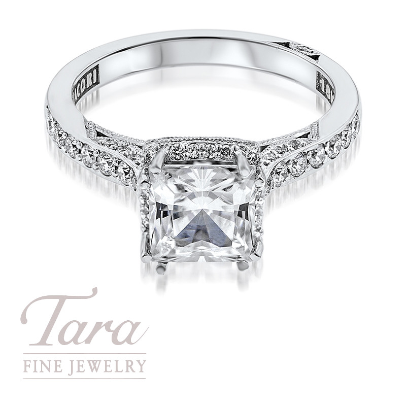 Tacori Diamond Engagement Ring in 18K White Gold .35TDW (Center Stone Sold Separately)