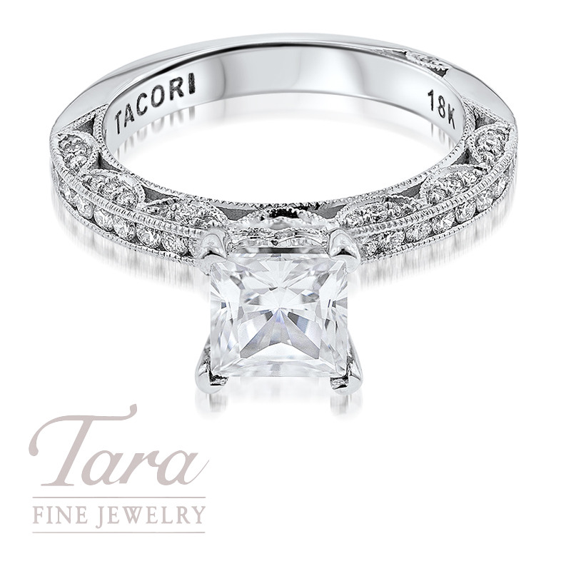 Tacori Diamond Engagement Ring in 18K White Gold .41TDW (Center Stone Sold Separately)
