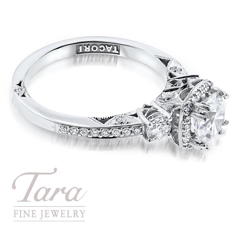 Tacori Diamond Engagement Ring in 18K White Gold .50 TDW (Center Stone Sold Separately)