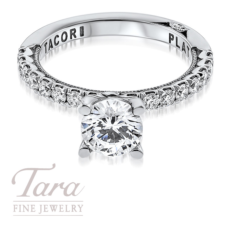Tacori Diamond Engagement Ring in Platinum .53TDW (Center Stone Sold Separately)