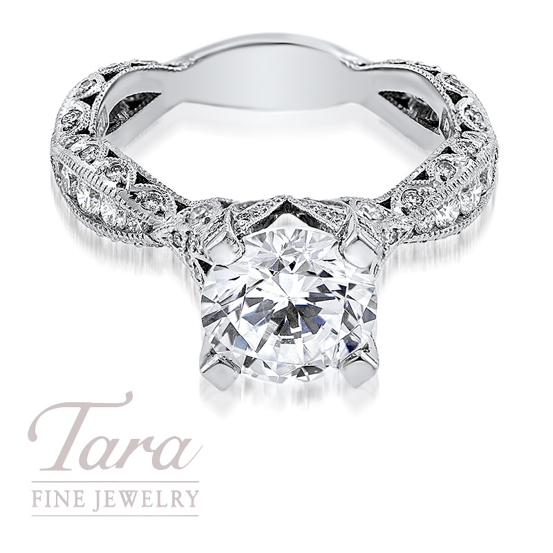 Tacori Diamond Engagement Ring in Platinum .80TDW (Center Stone Sold Separately)