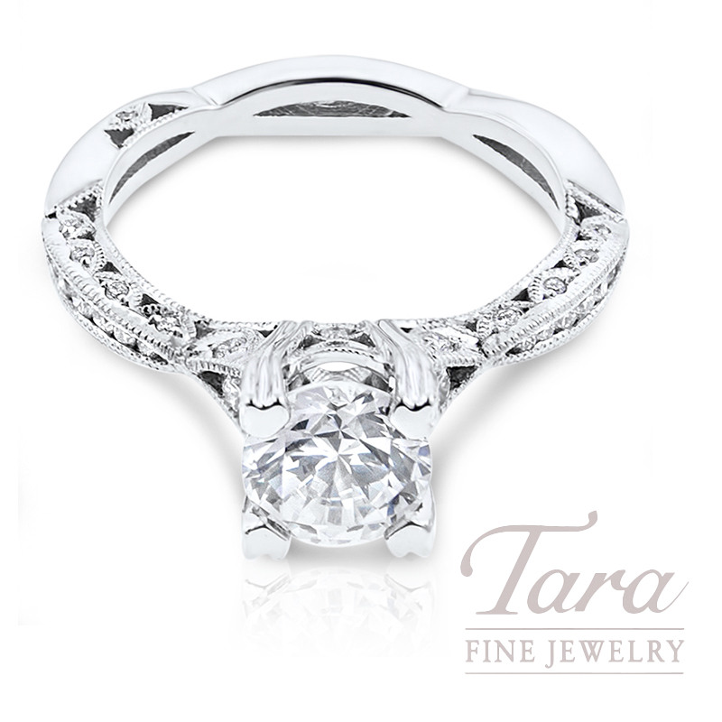 Tacori Diamond Engagement Ring 18K White Gold .28TDW (Center Stone Sold Separately)