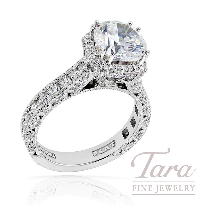 Tacori Diamond Engagement Ring in Platinum, 1.21 ctw