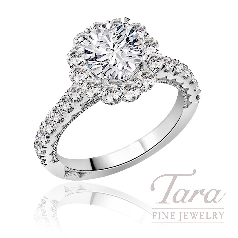 Tacori Diamond Wedding Ring in Platinum, .99 CT TW (Center stone sold separately).