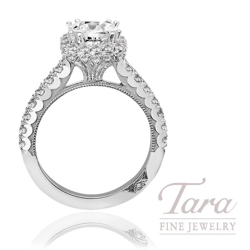 Tacori Diamond Wedding Ring Platinum 77 Ct Tw Center Stone Sold Separately