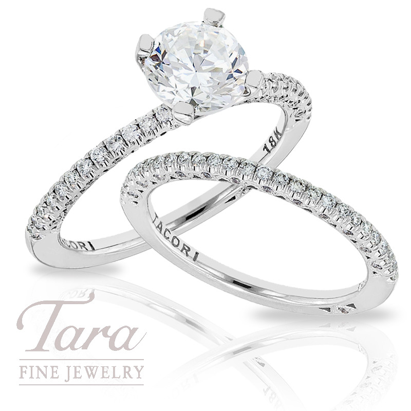 tacori diamond wedding ring 23 ctw tacori band 37ctw center - Tacori Wedding Ring