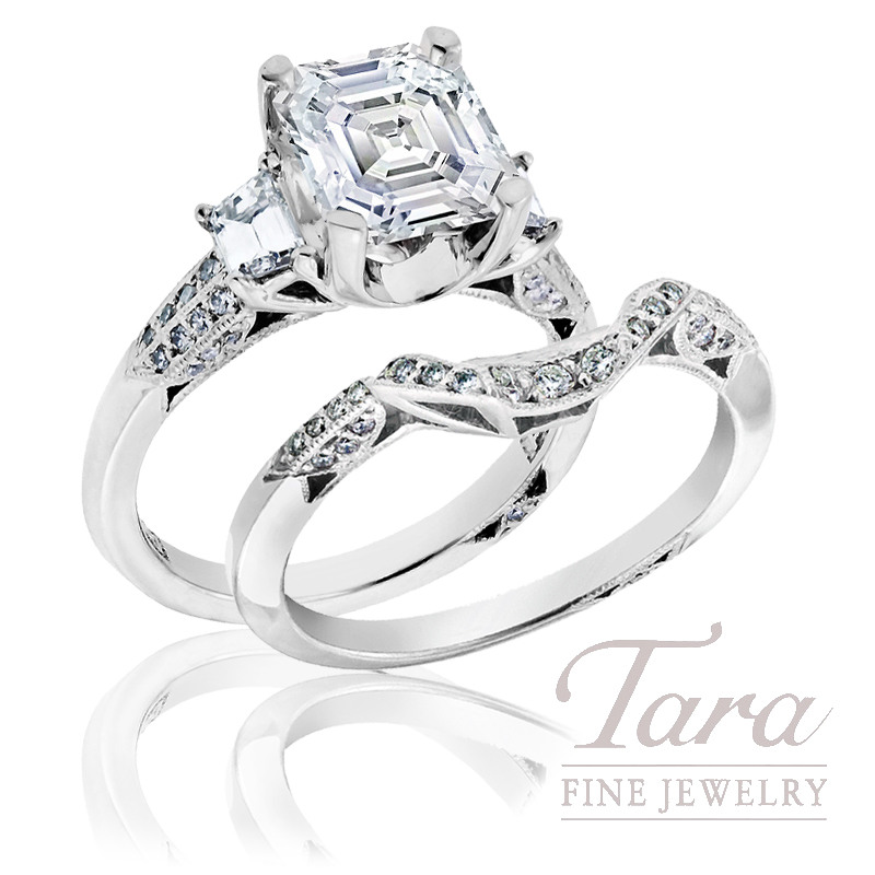 Tacori Diamond Wedding Set, .68tdw (Center stone sold separately)
