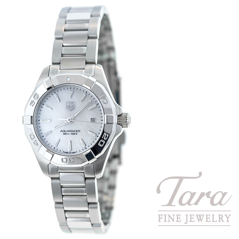 Tag Heuer Watch 27mm Aquaracer W/ Mother of Pearl