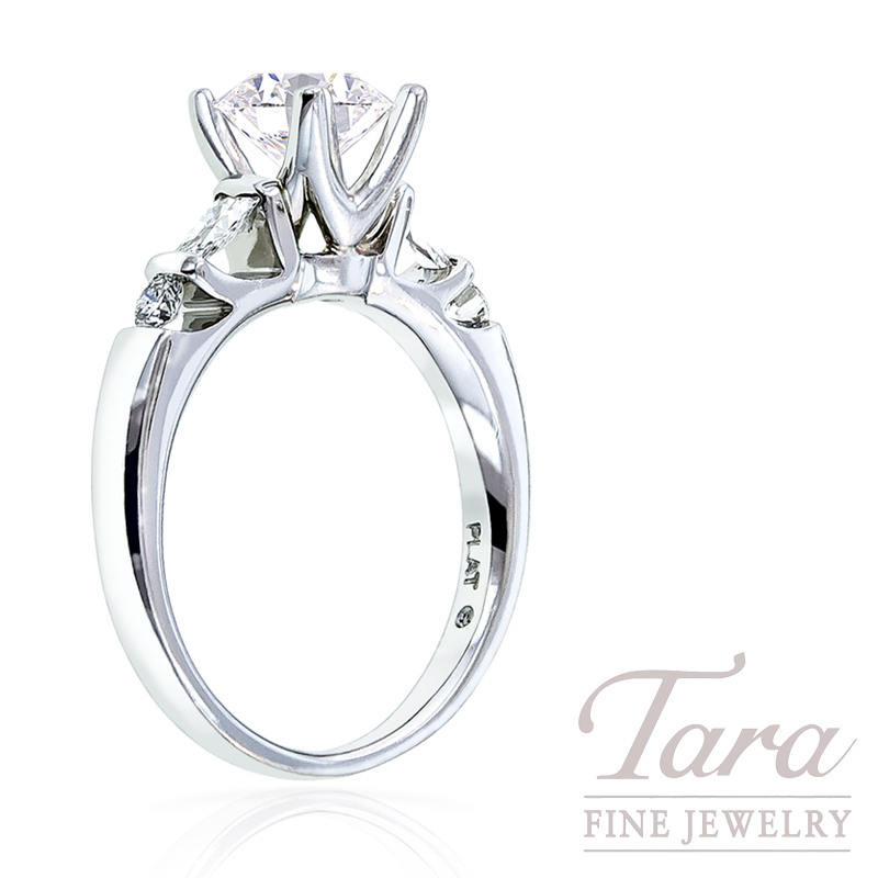 Diamond Engagement Ring by Verragio in Platinum, .30 TDW (Center stone sold separately)