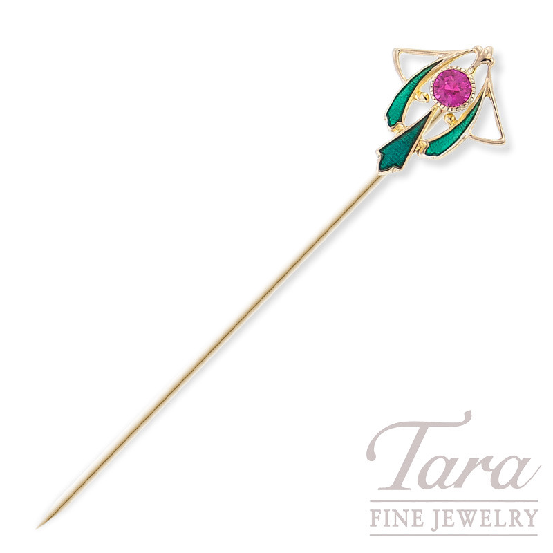 Stick Pin in 18K Yellow Gold