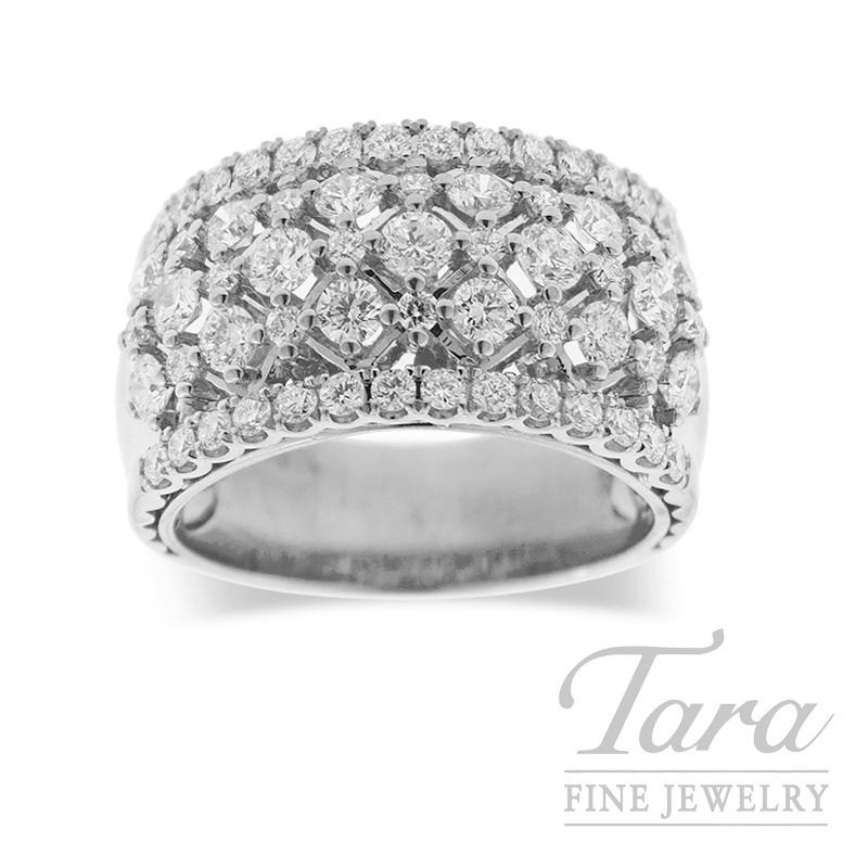 Diamond Ring  18K White Gold 1.66TDW