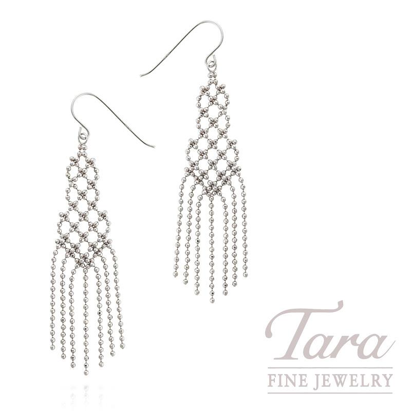 14k White Gold Dangle Earrings 2 8g