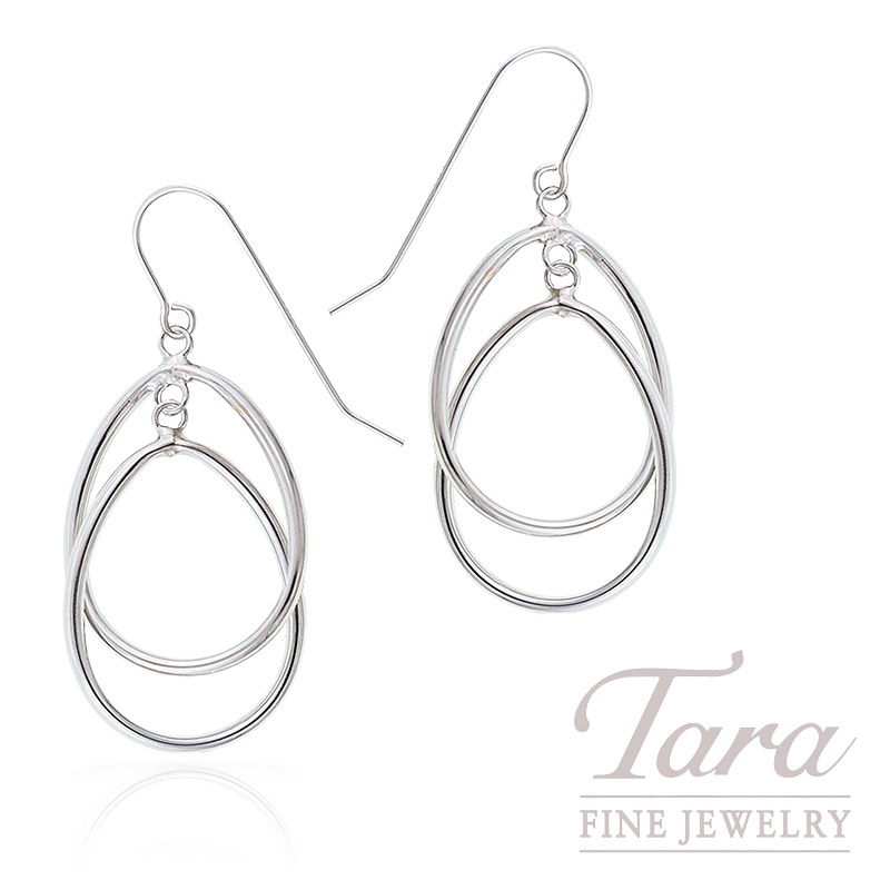 Fashion Earrings in 14K White Gold, 2 Grams