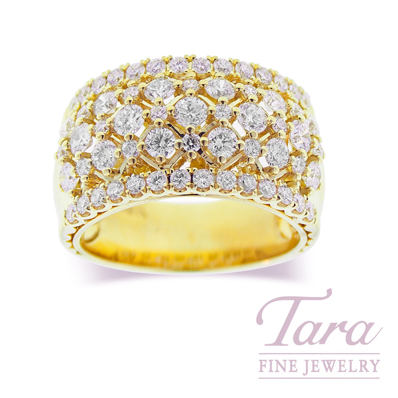 Diamond Ring in 18K Yellow Gold  1.66TDW