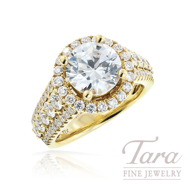 Diamond Ring in 18K Yellow Gold  1.83 TDW (Center Stone Sold Separately)