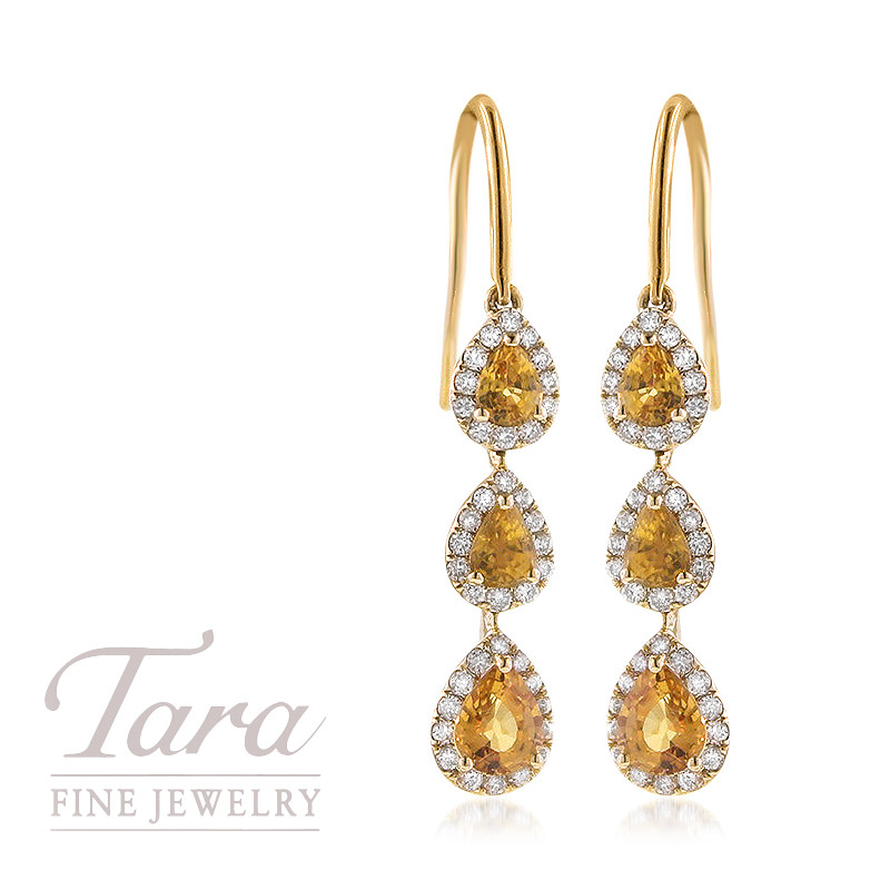 stud si diamond carat h in g sapphire yellow oval stone two k tw earrings ailey gold jp rose and