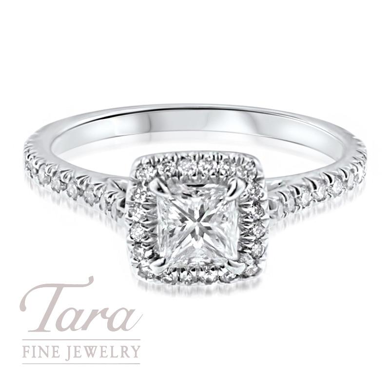 Diamond Engagement Ring in 18K White Gold .35TDW (Center Stone Sold Separately)