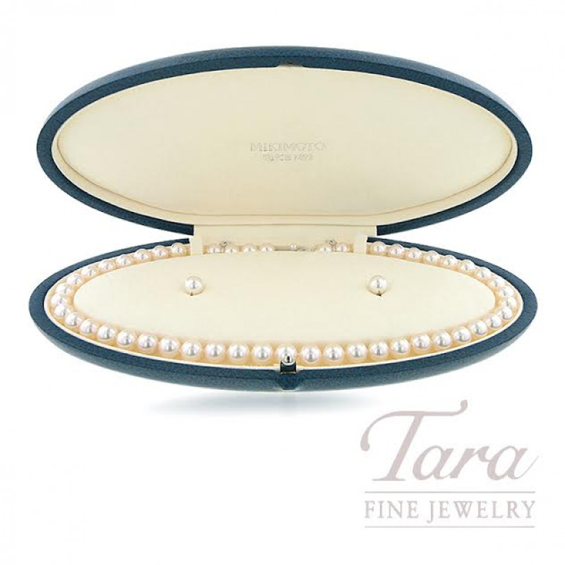 Mikimoto Akoya Pearl Earring and Necklace Set
