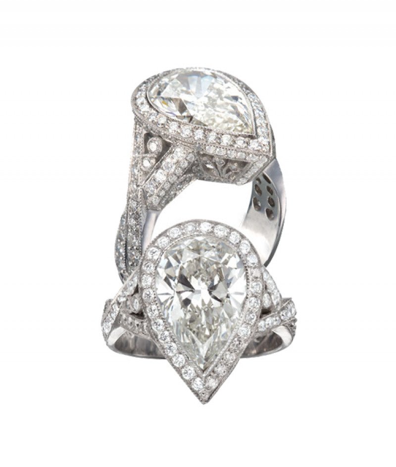 Diamond Wedding Ring by JB Star in Platinum, 4.26 CT TW (Center stone sold separately)