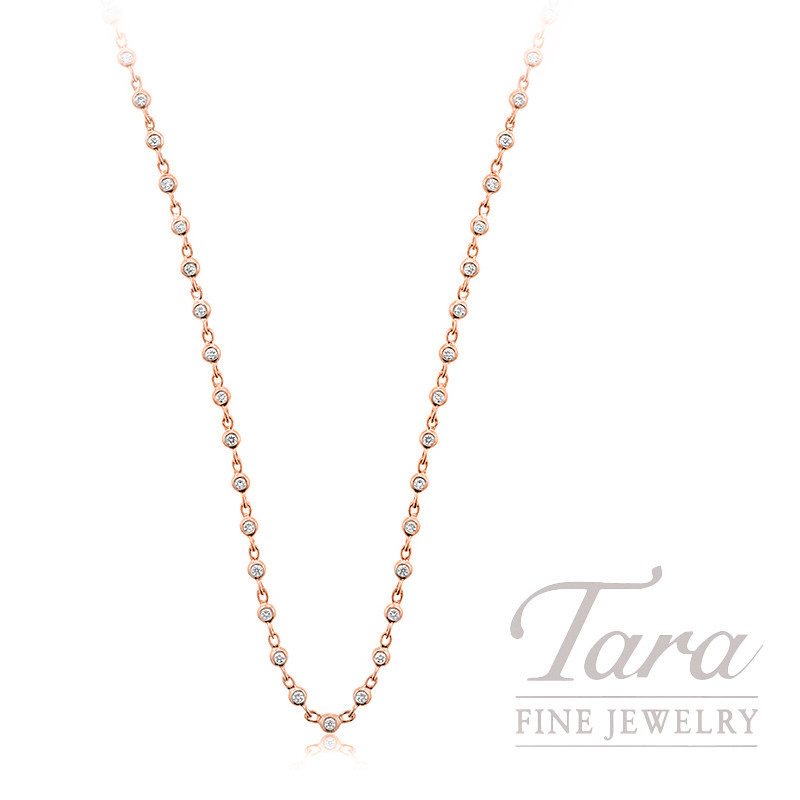 18k Rose Gold Diamond Bezel Chain - Click for Available Sizes!