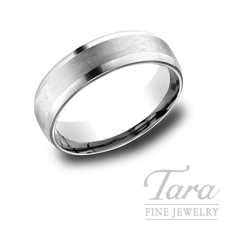 Gentlemen's 18k White Gold Wedding Band, 10.4G