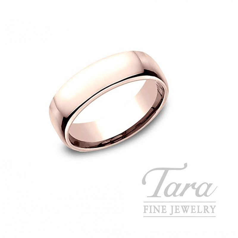 Gentlemen's 14k Rose Gold Wedding Band, 9.4G, Size 10