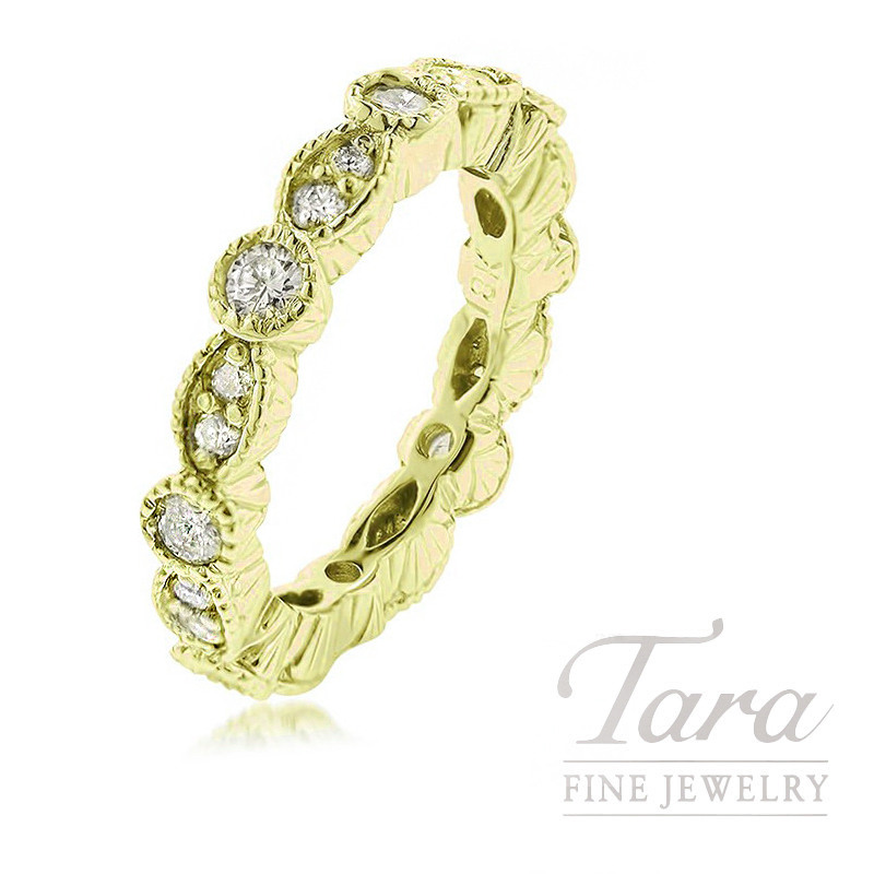 18k Yellow Gold Diamond Band, 5.5g, .80TDW